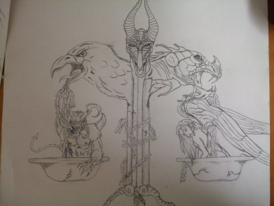 Blog de artillusion page 3 art illusion custom dessin - Dessin ange demon ...
